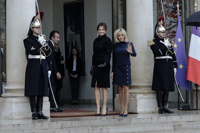 Brigitte Macron και Lady Melania