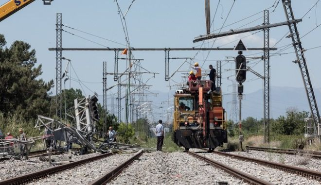 Train accident at Adendro, almost 40km west of Thessaloniki, northern Greece, with three confirmed dead among the passengers on May 14, 2017. The train crashed into a house after derailing.