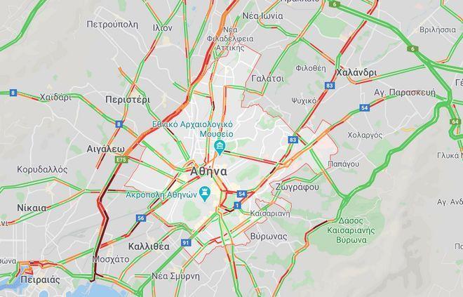 Κίνηση στους δρόμους: Κυκλοφοριακό έμφραγμα στον Κηφισό μετά από τροχαίο