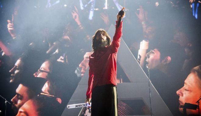 """Φωτογραφία από live συναυλία των """"30 seconds to Mars"""""""