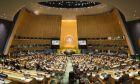 Η αίθουσα συνεδριάσεων του ΟΗΕ στην Νέα Υόρκη
