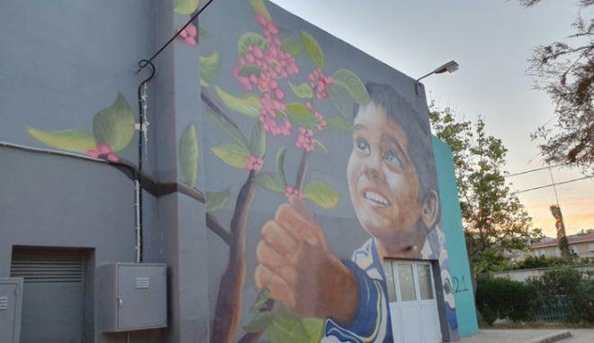 Τοιχογραφία του ζωγράφου Αντώνη Χάμπα