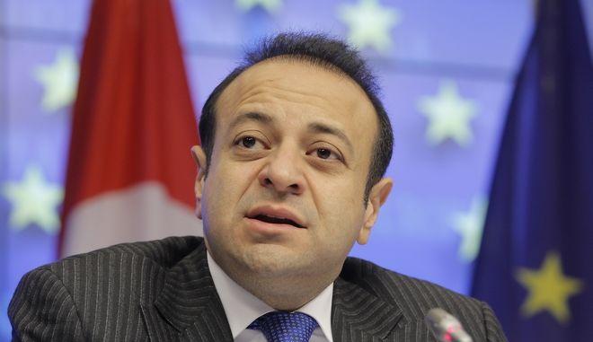 Ο Εγκεμέν Μπαγίς, στενός συνεργάτης του Τούρκου Προέδρου Ρετζέπ Ταγίπ Ερντογάν και πρώην υπουργός Ευρωπαϊκών Υποθέσεων της Τουρκίας