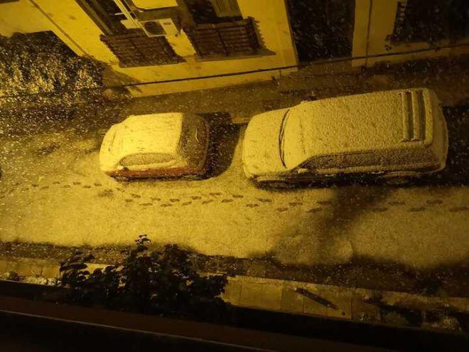 Χιόνια στα Εξάρχεια