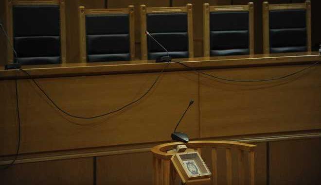 Η αίθουσα του δικαστηρίου (EUROKINISSI/ΤΑΤΙΑΝΑ ΜΠΟΛΑΡΗ)