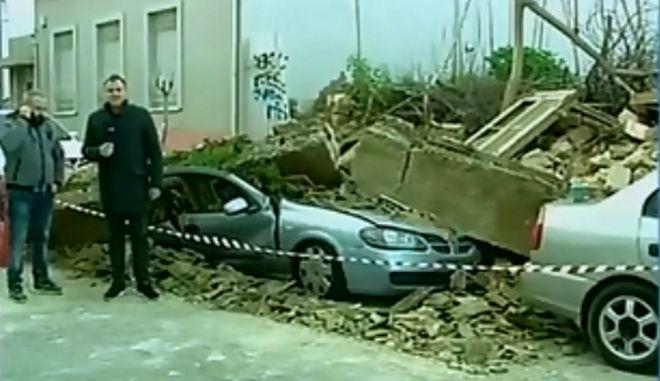 Γλίτωσε από θαύμα και περιγράφει την κατάρρευση κτιρίου στο Γκάζι
