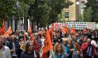 Απεργιακή συγκέντρωση και πορεία από την ΓΣΕΕ, την ΑΔΕΔΥ και Πρωτοβάθμιων Σωματείων την Τετάρτη 17 Μαΐου 2017. (EUROKINISSI/ΤΑΤΙΑΝΑ ΜΠΟΛΑΡΗ)