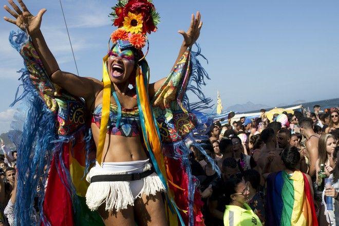 Εικόνα από το Gay Pride στο Ρίο ντε Τζανέιρο το 2018