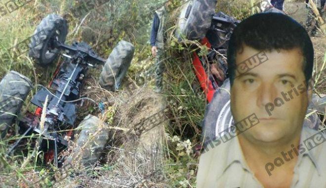 Τραγικός θάνατος για 55χρονο στο Μουζάκι Ηλείας - Καταπλακώθηκε από το τρακτέρ του