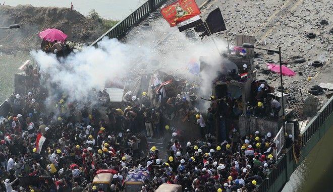 Εικόνα από αντικυβερνητική διαδήλωση στη Βαγδάτη