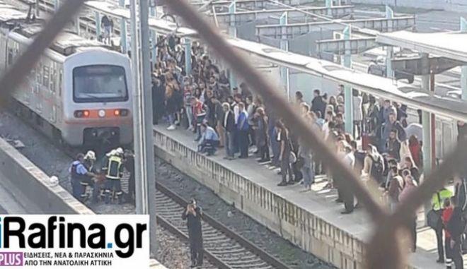 Παλλήνη: Πτώση άνδρα στις γραμμές του Προαστιακού