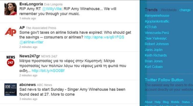Πέθανε η Amy Winehouse