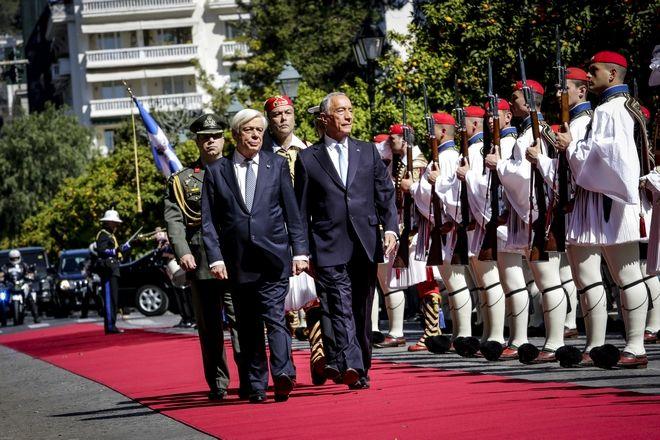 Προετοιμασίεςς στο Προεδρικό Μέγαρο για την υποδοχή του προέδρου της Πορτογαλίας, Marcelo Rebelo de Sousa, την Τρίτη 13 Μαρτίου 2018. (EUROKINISSI/ΓΙΑΝΝΗΣ ΠΑΝΑΓΟΠΟΥΛΟΣ)
