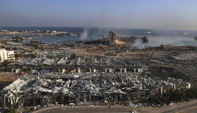 Η Βηρυτός και το λιμάνι της μετά την καταστροφή