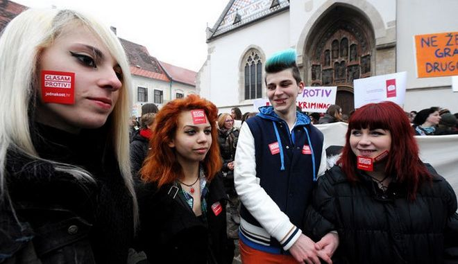 """""""Όχι"""" στον γάμο μεταξύ ομοφύλων είπαν οι Κροάτες"""