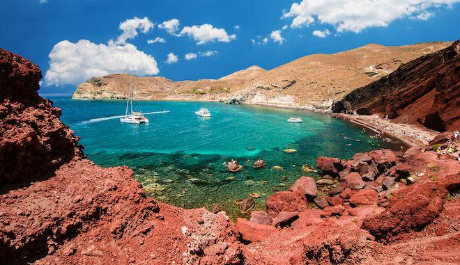 Κόκκινη παραλία, Σαντορίνη