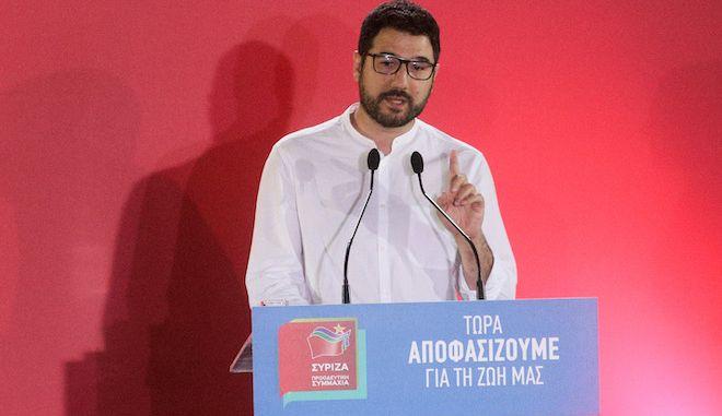 Ο εκπρόσωπος Τύπου του ΣΥΡΙΖΑ-ΠΣ, Νάσος Ηλιόπουλος