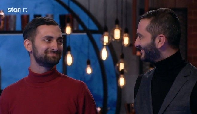 Ο Λεωνίδας Κουτσόπουλος και ο Τεό στο Masterchef 5