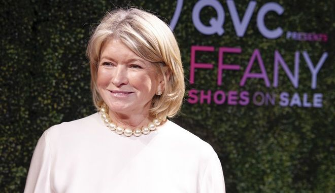 "Martha Stewart attends the 24th Annual QVC ""FFANY Shoes on Sale"" charity gala at The Ziegfeld Ballroom on Tuesday, Oct. 10, 2017, in New York. (Photo by Andy Kropa/Invision/AP)"