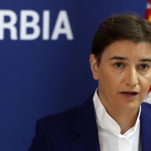 Η πρωθυπουργός της Σερβίας Ana Brnabic