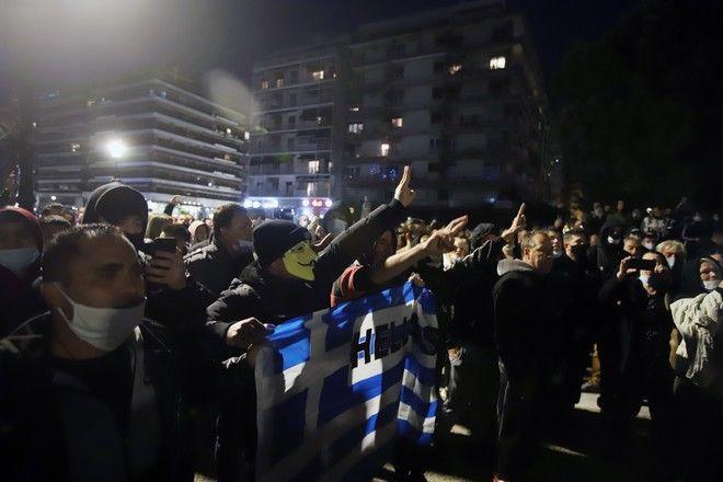 Συγκέντρωση αρνητών μάσκας στη Θεσσαλονίκη