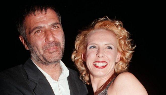 Νίκος Σεργιανόπουλος και Εβελίνα Παπούλια το 1999