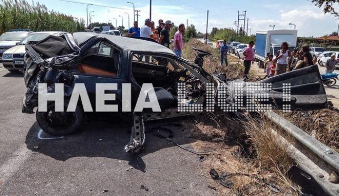 Νέα Μανωλάδα: Δύο νεκροί και δύο τραυματίες σε τροχαίο