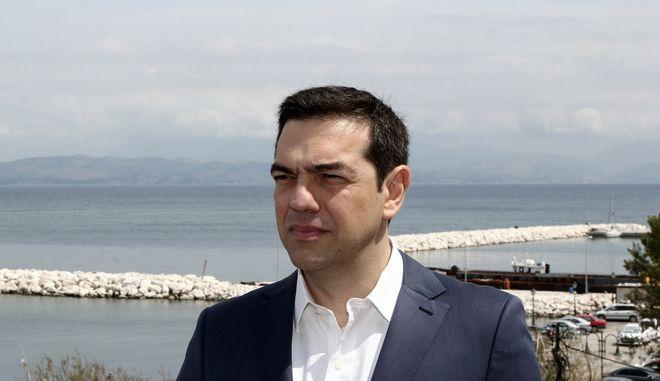 Επίσκεψη του πρωθυπουργού Αλέξη Τσίπρα στο Ναυτικό Σταθμό Κέρκυρας την Κυριακή του Πάσχα 16 Απριλίου 2017. (EUROKINISSI/ΣΩΤΗΡΗΣ ΔΗΜΗΤΡΟΠΟΥΛΟΣ)