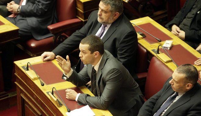 Συζήτηση για τον προϋπολογισμό του 2014 στην Βουλή το Σάββατο 7 Δεκεμβρίου 2013.  (EUROKINISSI/ΓΕΩΡΓΙΑ ΠΑΝΑΓΟΠΟΥΛΟΥ)