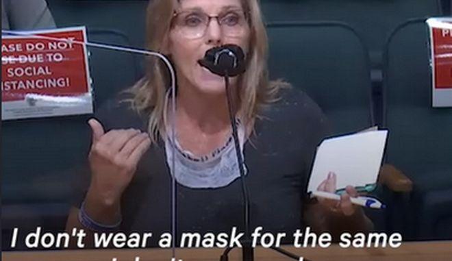 """""""Δεν φοράω μάσκα για τον ίδιο λόγο που δεν φοράω εσώρουχο"""": Η απίστευτη αιτιολογία Αμερικανίδας"""