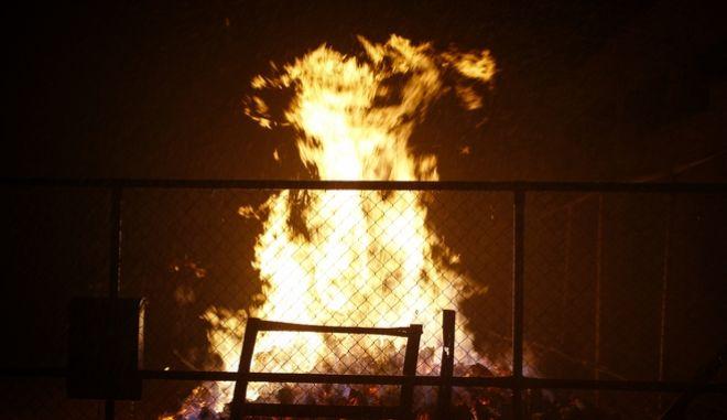 Φωτογραφία από τις πυρκαγιές στη Ραφήνα