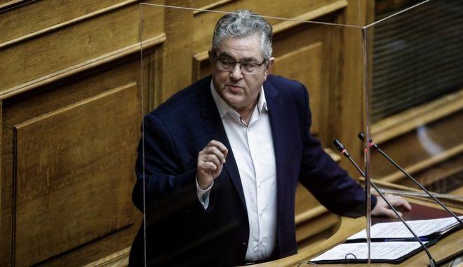 Ο γενικός γραμματέας του ΚΚΕ, Δημήτρης Κουτσούμπας