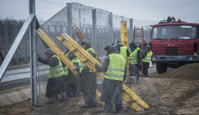 Φράχτης στην Ουγγαρία - Φωτό αρχείου