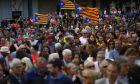 Διαδήλωση ακτιβιστών υπέρ της ανεξαρτησίας της Καταλονίας
