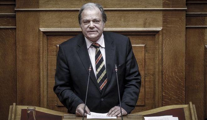 Κώστας Κατσίκης, βουλευτής ΑΝΕΛ, στο βήμα της Βουλής  (EUROKINISSI/ΓΙΩΡΓΟΣ ΚΟΝΤΑΡΙΝΗΣ)