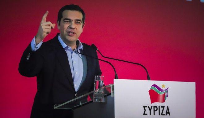 Συνεδρίαση της Κεντρικής Επιτροπής του ΣΥΡΙΖΑ - Στο βήμα ο πρωθυπουργός Αλέξης Τσίπρας