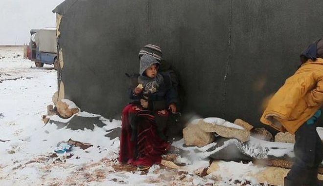Προσφυγικό: Αριθμός σοκ νέων προσφύγων στη Συρία. Άστεγοι στους -10 βαθμούς