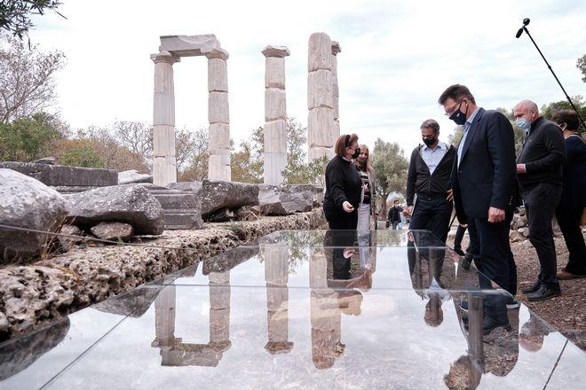 Επίσκεψη του πρωθυπουργού Κυριάκου Μητσοτάκη στην Σαμοθράκη, το Σάββατο 17 Οκτωβρίου 2020. (EUROKINISSI/ΓΡΑΦΕΙΟ ΤΥΠΟΥ ΠΡΩΘΥΠΟΥΡΓΟΥ/ΔΗΜΗΤΡΗΣ ΠΑΠΑΜΗΤΣΟΣ)