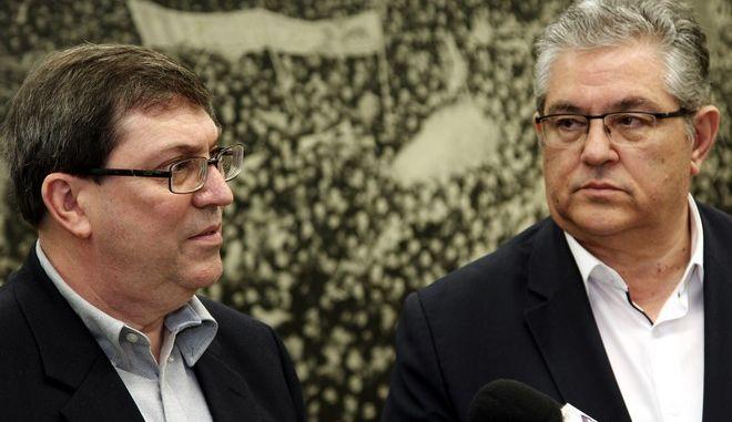 ΑΘΗΝΑ-Ο ΓΓ της ΚΕ του ΚΚΕ Δημήτρης Κουτσούμπας συναντήθηκε  με τον υπουργό Εξωτερικών της Κούβας Μπρούνο Εντουάρντο Ροντρίγκες Παρίλια.(Eurokinissi-ΔΗΜΗΤΡΟΠΟΥΛΟΣ ΣΩΤΗΡΗΣ)