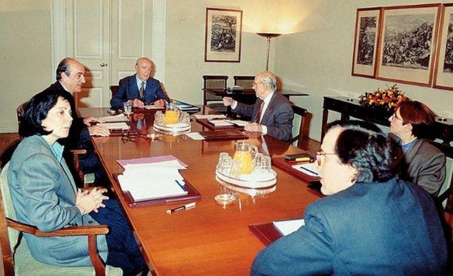Από τη συνεδρίαση του Συμβουλίου των πολιτικών αρχηγών το 1992