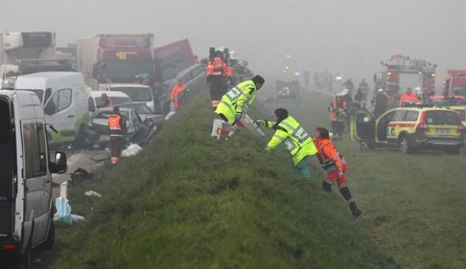 Βέλγιο: Καραμπόλα 100 αυτοκινήτων - Τουλάχιστον ένας νεκρός