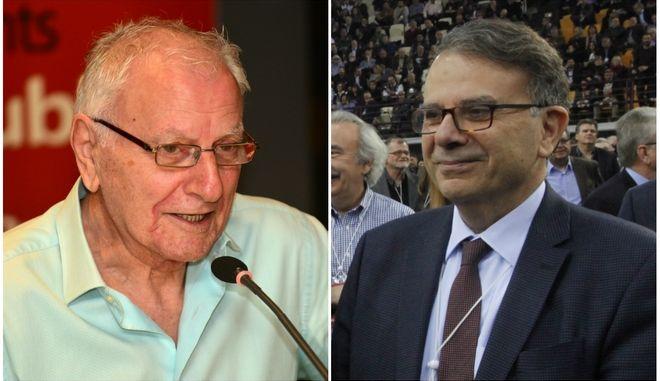 Ο δημοσιογράφος Κώστας Χαρδαβέλλας και ο σεξολόγος Θάνος Ασκητής