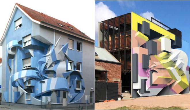 Ο άνθρωπος που μετατρέπει γκρίζα κτίρια σε οπτικές ψευδαισθήσεις