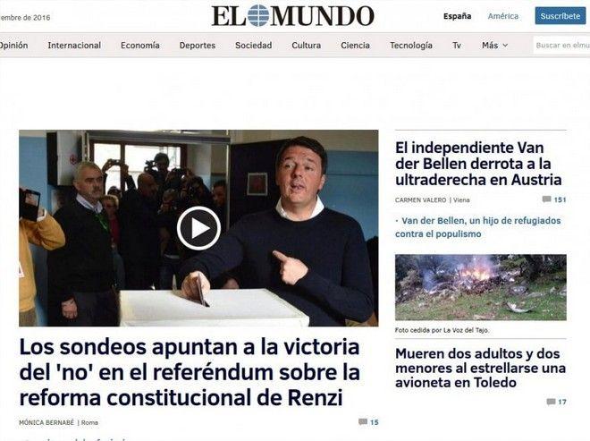 Δημοψήφισμα στην Ιταλία: Ο διεθνής τύπος για την ήττα του Ματέο Ρέντσι