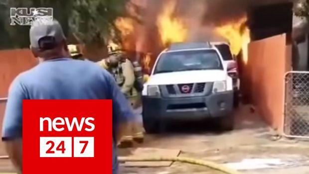 Πατέρας εισβάλει στο φλεγόμενο σπίτι του για να σώσει τον σκύλο του - Viral   News 24/7