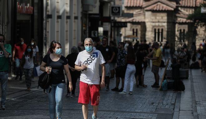 Στιγμιότυπο από το κέντρο της Αθήνας