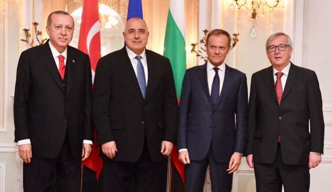 Ερντογάν, Μπορίσοφ, Τουσκ και Γιούνκερ στη Σύνοδο της Βάρνας