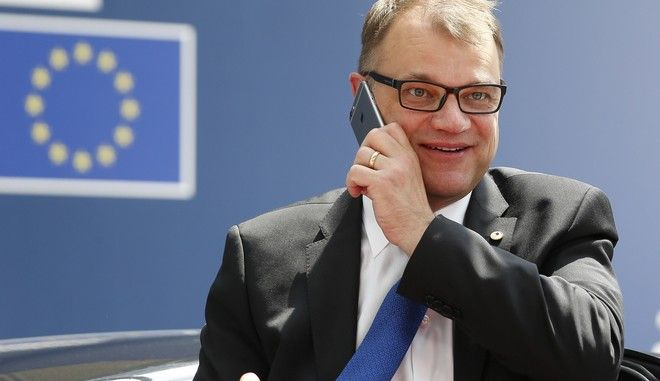 Finnish Prime Minister Juha Sipila arrives for an EU summit in Brussels on Thursday, June 22, 2017. European Union leaders are gathering for a two day summit to weigh measures in which to tackle terrorism and migration and to create closer defense ties. (Julien Warnand, Pool Photo via AP)