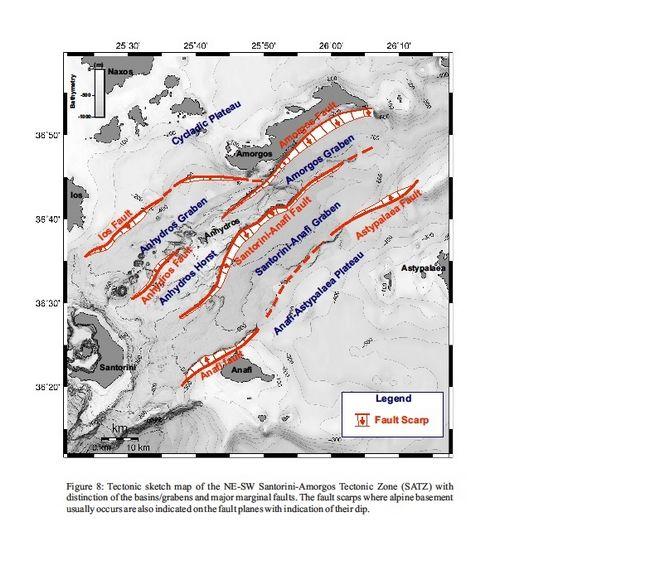 Μεταξύ Σαντορίνης και Αμοργού: Πέντε ρήγματα ικανά για σεισμό έως 7,3 Ρίχτερ