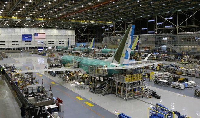 Εικόνα από την κατασκευή του Boeing 737 MAX